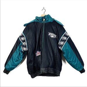 Vintage Philadelphia Eagles Reversible Puffer Coat